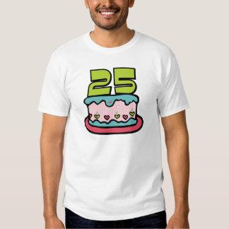 25 Year Old Birthday Cake T-shirts