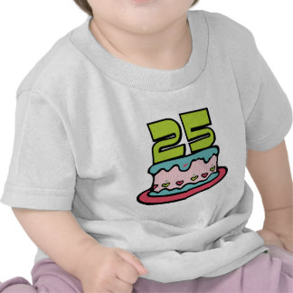 25 Year Old Birthday Cake Shirts