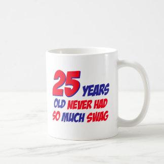 25 year old birthday design basic white mug