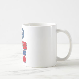 25 year old birthday designs basic white mug