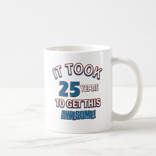 25 year old birthday designs coffee mug