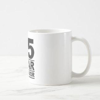 25 year survivor basic white mug