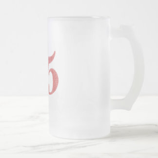25 years anniversary frosted glass mug