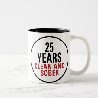 25 Years Clean and Sober Coffee Mugs