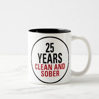 25 Years Clean and Sober Two-Tone Coffee Mug