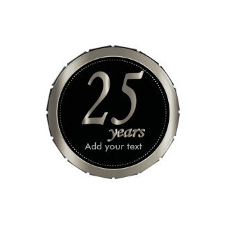 25 Years in Black and Metallic Silver | 25th Jelly Belly Candy Tins
