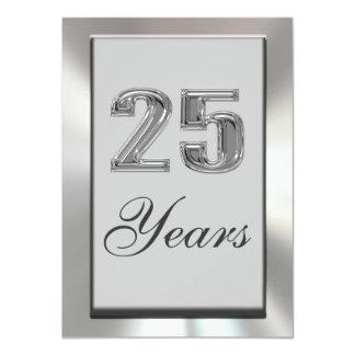 25 Years Silver Anniversary Invitation