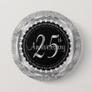 25th Anniversary 7.5 Cm Round Badge