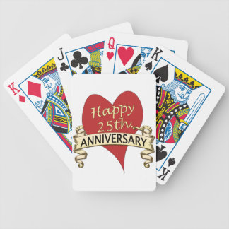 25th. Anniversary Bicycle Playing Cards