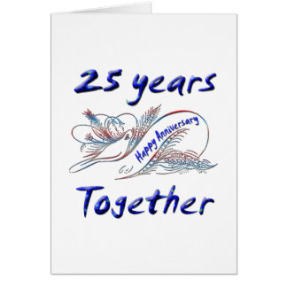 25th. Anniversary Card
