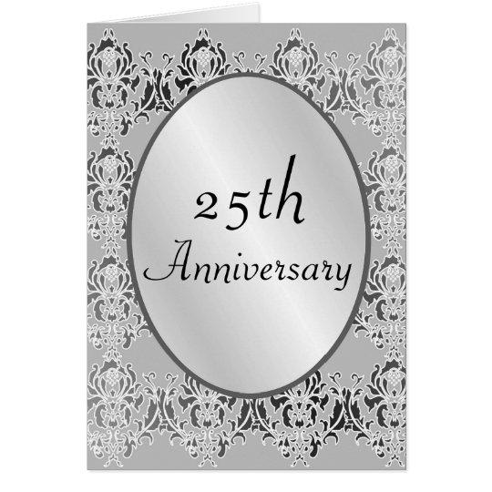 25th Anniversary Card Or Invitation