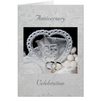 25th Anniversary Celebration Invitation Card