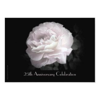 25th Anniversary Celebration Invitation Pink Rose