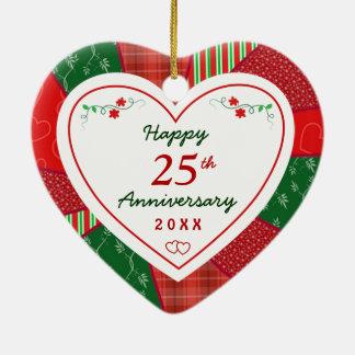 25th Anniversary Christmas Holiday Gifts Christmas Ornament