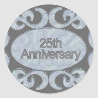 25th Anniversary Gifts Classic Round Sticker