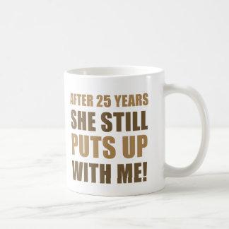 25th Anniversary Humor For Men Basic White Mug