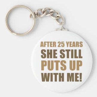 25th Anniversary Humor For Men Key Ring