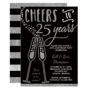 25th wedding anniversary invitations zazzle uk