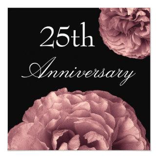 25th Anniversary Invitation - PINK Roses