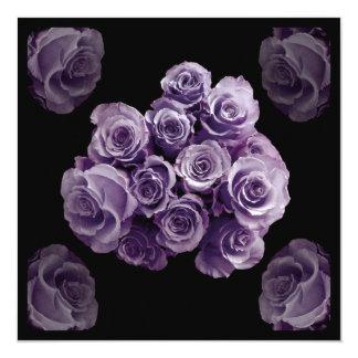 25th Anniversary Invitation - PURPLE Rose Bouquet