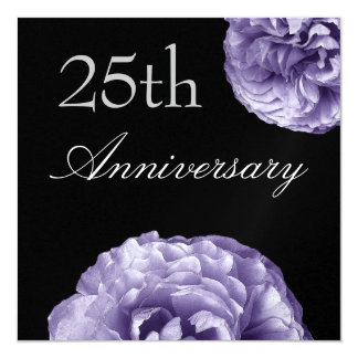 25th Anniversary Invitation - PURPLE Roses