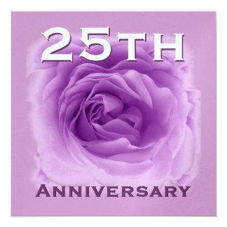25th Anniversary Invitation - Soft Purple Rose