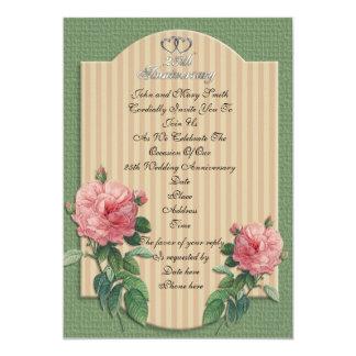 25th Anniversary invitation vintage roses