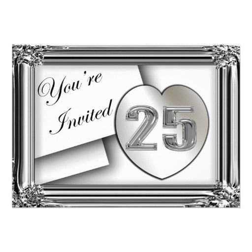 25th Anniversary Invitations