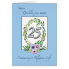 25th Anniversary of Catholic Nun Wreath and Silver Card