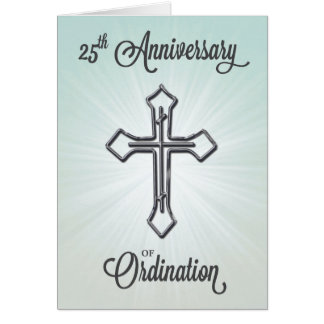 25th Anniversary of Ordination, Silver Cross Card