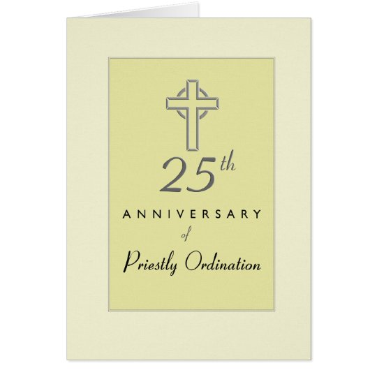 25th Anniversary of Priest Ordination, Cross Card