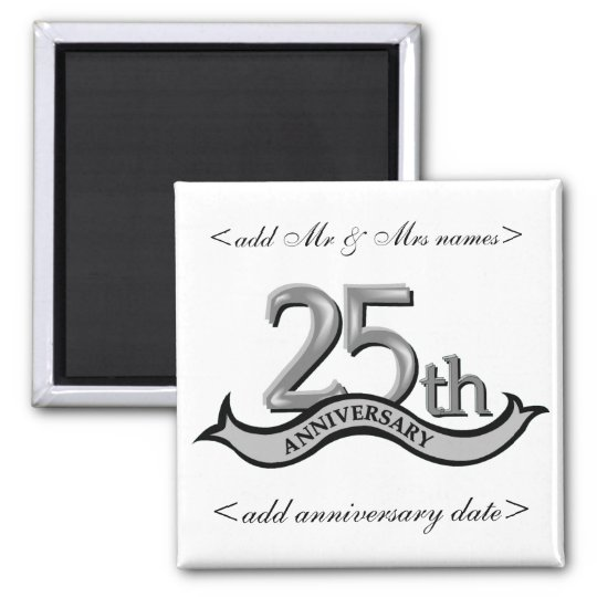 25th Anniversary Party Favours Magnet