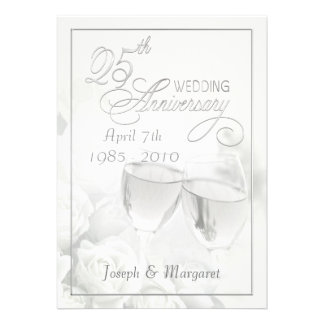 25th Anniversary Party Invitations - Personalized