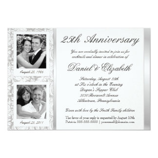 25th Anniversary - Photo Invitations - Then & Now