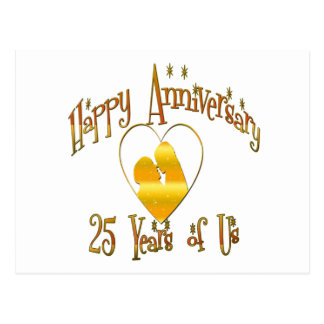 25th. Anniversary Postcard
