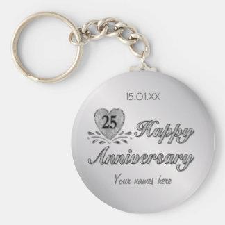25th Anniversary - Silver Key Ring