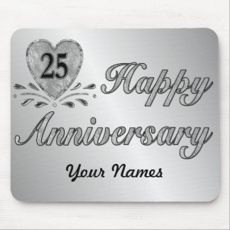 25th Anniversary - Silver Mouse Mat