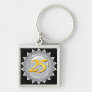 25th Anniversary Silver Seal Key Ring