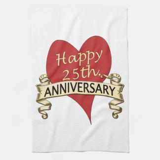 25th. Anniversary Tea Towel