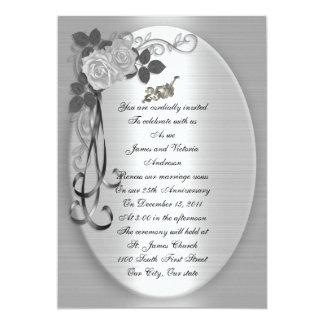 25th Anniversary Vow renewal 13 Cm X 18 Cm Invitation Card