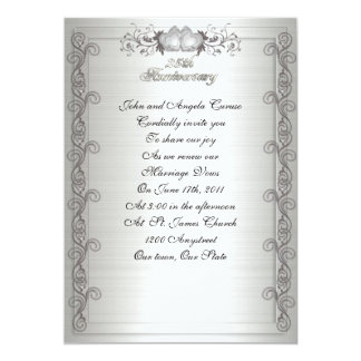 25th Anniversary vow renewal invitation