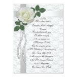 25th Anniversary vow renewal Invitation White rose 13 Cm X 18 Cm Invitation Card