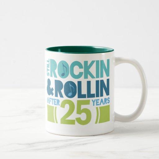 25th Anniversary Wedding Gift Coffee Mugs