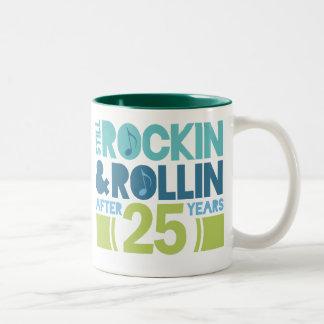 25th Anniversary Wedding Gift Two-Tone Coffee Mug