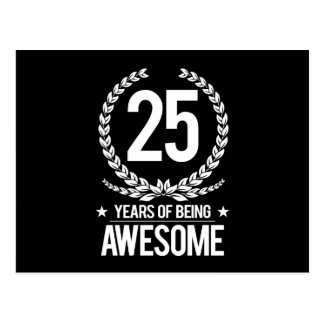 25th Birthday (25 Years Of Being Awesome) Postcard