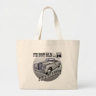 25th birthday 8 jumbo tote bag
