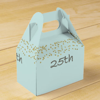 25th Birthday Confetti Favour Box