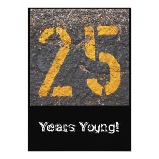 25th Birthday-Invitation Card