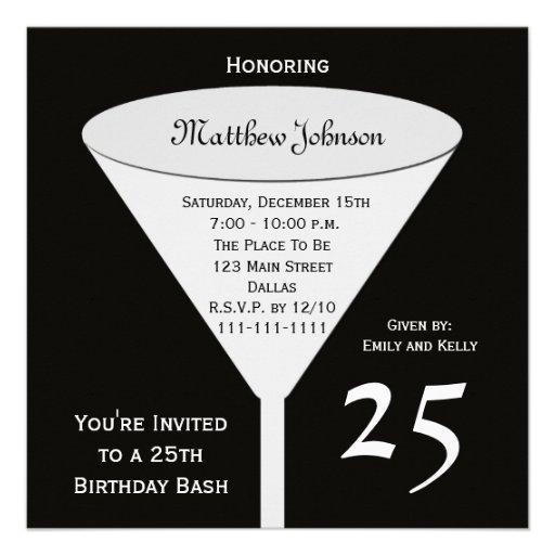 25th Birthday Party Invitation, 25th Birthday Bash