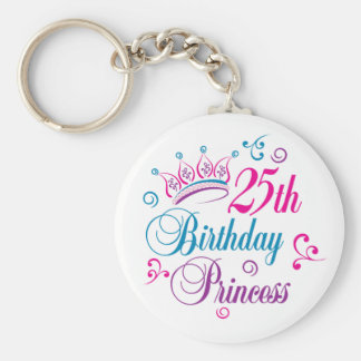 25th Birthday Princess Key Ring
